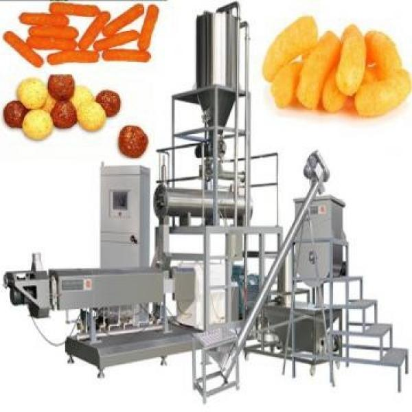 Grains and Cereal Puff Snack Extruder / Wheat Flour Snacks Extruder / Extruded Snacks Food Making Machine #3 image
